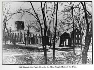 Saint Paul's after the Great Augusta Fire.1