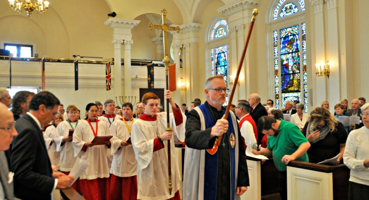 Procession led by Verger